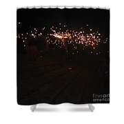 Demons Down The Stairs Shower Curtain