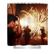 Demons Fire Shower Curtain