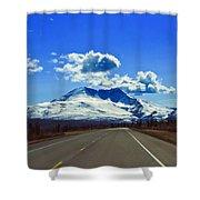 Denali Highway Shower Curtain