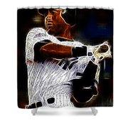 Derek Jeter New York Yankee Shower Curtain