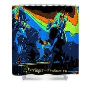 Derringer Rock Spokane 1977 Shower Curtain
