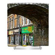 Derry Shops Shower Curtain