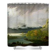 Derwent Water With Skiddaw In The Distance Shower Curtain