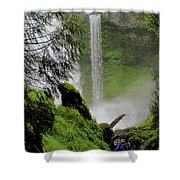 Descent To The Falls Shower Curtain