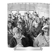 Desegregation: Busing, 1973 Shower Curtain
