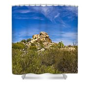 Desert Boulders Shower Curtain