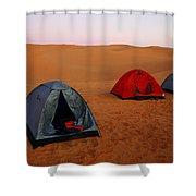 Desert Camping Shower Curtain