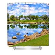 Desert Golf Shower Curtain