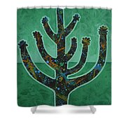 Desert Green Shower Curtain