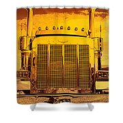 Desert Hauler Abstract Shower Curtain