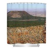 Desert Watch Tower View Shower Curtain