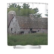 Deserted Barn Shower Curtain