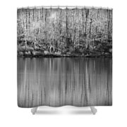 Desolate Splendor Bw Shower Curtain