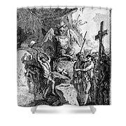 Destruction Of Idols, C1750 Shower Curtain