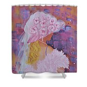 Pink Hat Beauty Shower Curtain