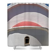 Detail Of Small Church Between Limnes Shower Curtain
