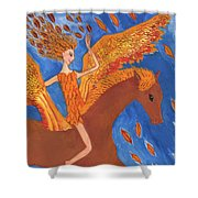 Detail Of Wild Winds Of Autumn Shower Curtain