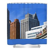 Detroit People Mover Shower Curtain