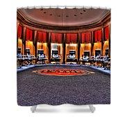 Detroit Pistons Locker Room Auburn Hills Mi Shower Curtain