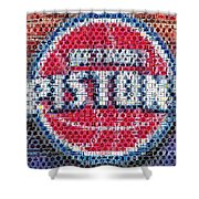 Detroit Pistons Mosaic Shower Curtain