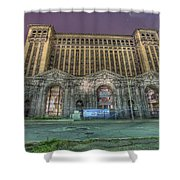 Detroit's Michigan Central Station - Michigan Central Depot Shower Curtain