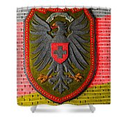 Deutsch Weimarer Shield Shower Curtain