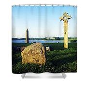 Devenish Island, Co Fermanagh, Ireland Shower Curtain