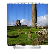 Devenish Monastic Site, Co. Fermanagh Shower Curtain