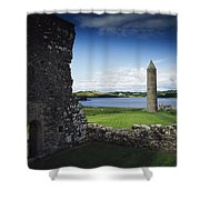 Devenish Monastic Site, Lough Erne, Co Shower Curtain