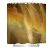 Devil In The Rainbow Shower Curtain