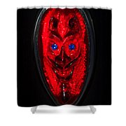 Devil With Sapphire Eyes Shower Curtain