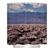 Devil's Golf Course At Death Valley Shower Curtain