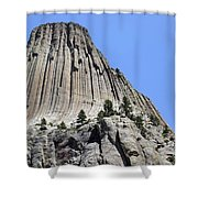 Devil's Tower Full View Shower Curtain