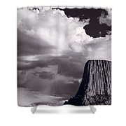 Devils Tower Wyoming Bw Shower Curtain