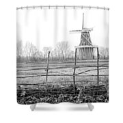 Dezwaan Windmill In Holland Michigan During November Shower Curtain