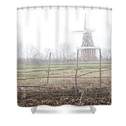 Dezwaan Windmill In Holland Michigan No.232 Shower Curtain