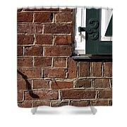 Diagonal Shadow Shower Curtain