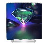 Diamond On Purple Shower Curtain