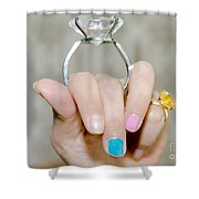 Diamond Ring Shower Curtain