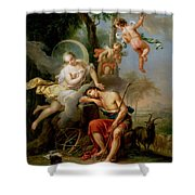 Diana And Endymion Shower Curtain