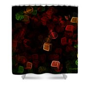 Dice And Letters Shower Curtain