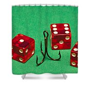 Dice Red Hook 1 A Shower Curtain