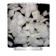 Diced Onions Shower Curtain