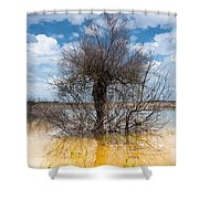 Die Standing Shower Curtain