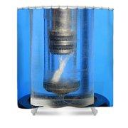 Diesel Engine Compression Demonstration Shower Curtain
