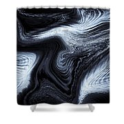 Digital Blue Art Shower Curtain