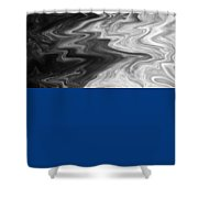 Digital Cloud Abstract Shower Curtain