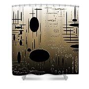 Digital Dimensions In Brown Series Image 2 Shower Curtain