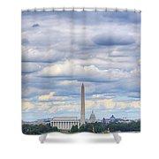 Digital Liquid - Clouds Over Washington Dc Shower Curtain