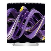 Digital Streak Image Of An Iris Shower Curtain